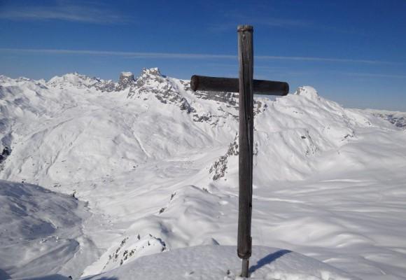 Jubel bei der Sonnenberg-Schneeschuhtour.