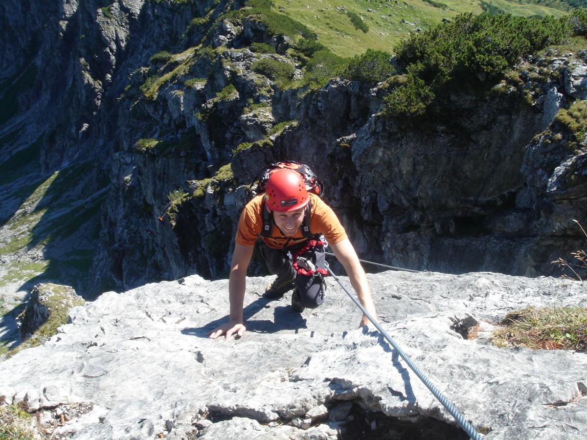 Klettersteig Usa : Hindelanger klettersteig bergschule kleinwalsertal