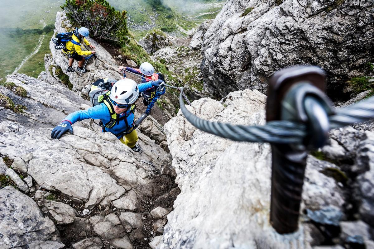 Klettersteig Liechtenstein : Klettersteige kleinwalsertal bergschule