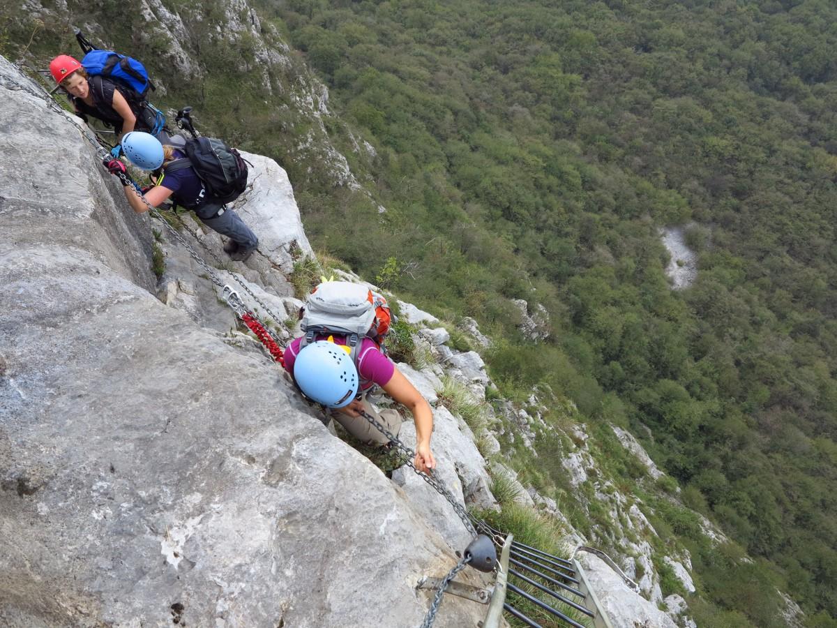 Klettersteig Usa : Klettersteige comer see bergschule kleinwalsertal