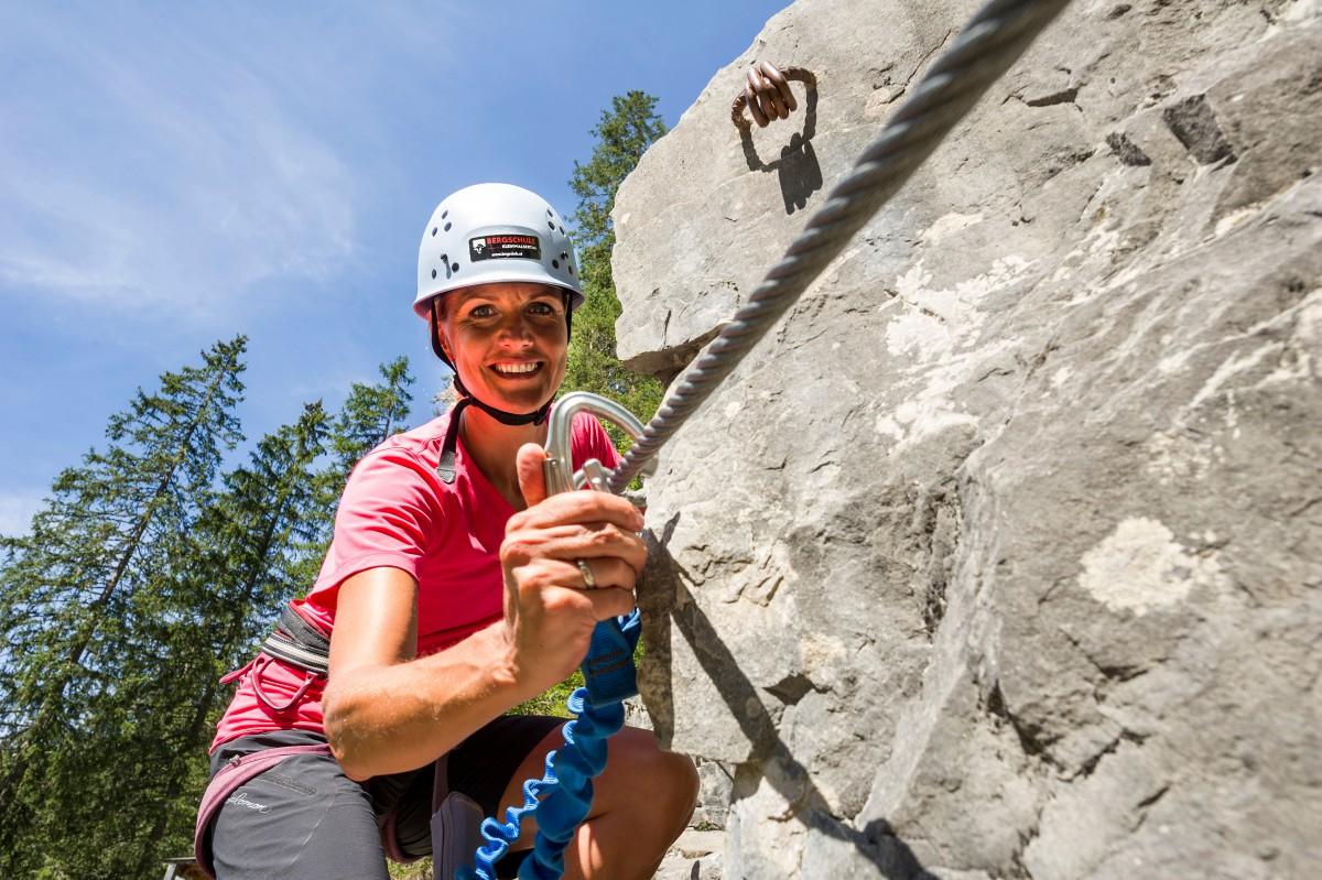 Klettersteigkurs : Tages klettersteigkurs bergschule kleinwalsertal