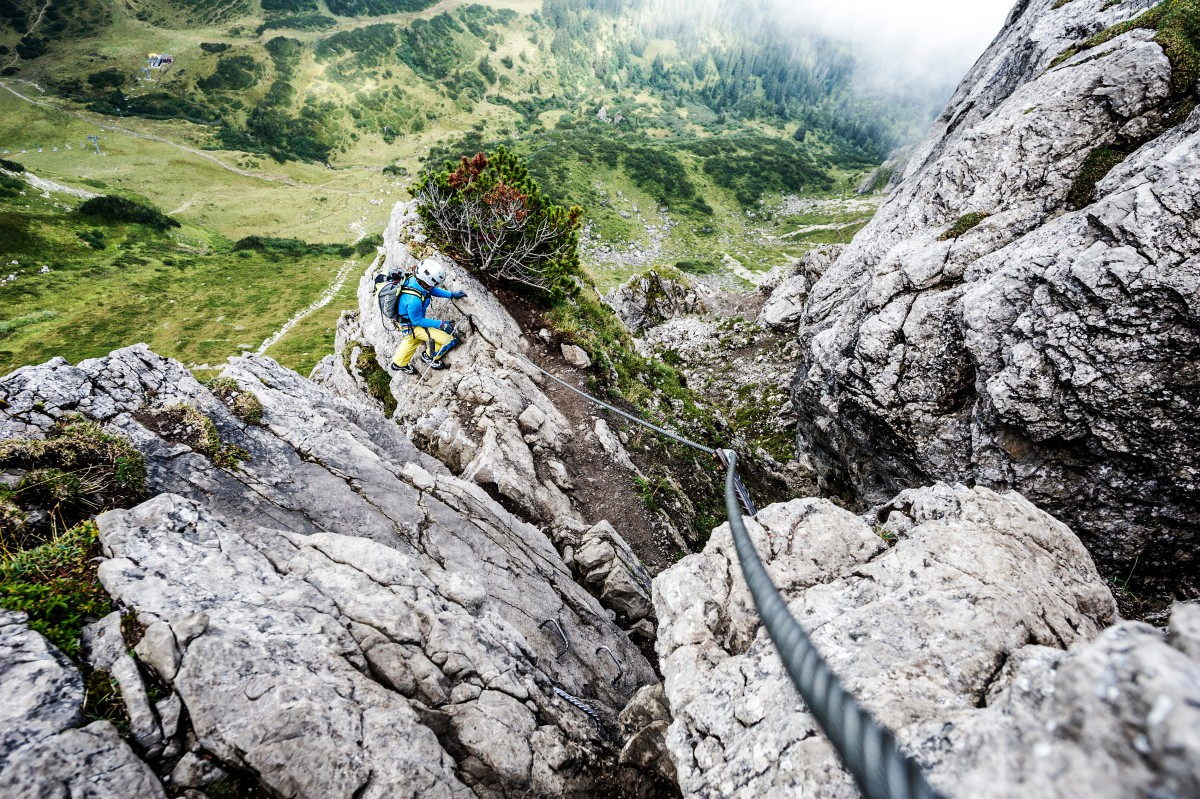 Klettersteig Kleinwalsertal : Tages klettersteigkurs bergschule kleinwalsertal