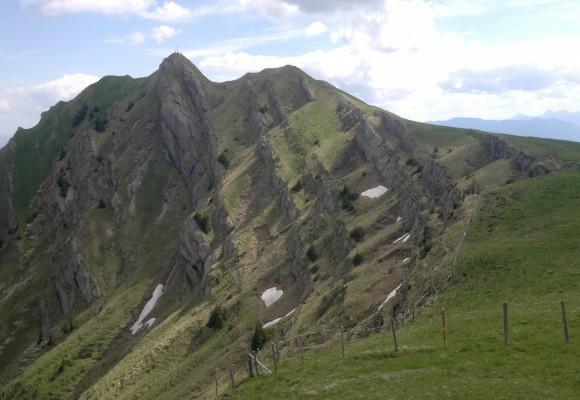 Die Hütte liegt inmitten der Berge im Naturpark Nagelfluhkette.