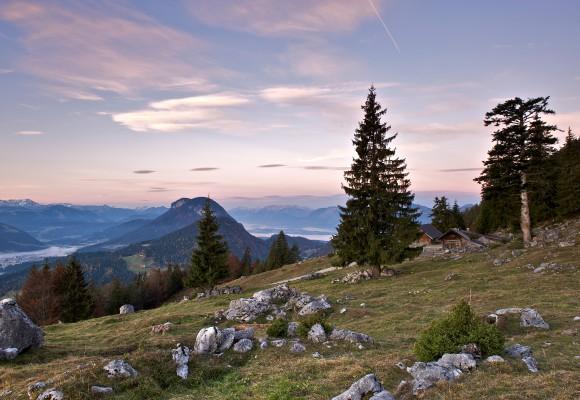 Die Berggipfel im Wilden Kaiser.
