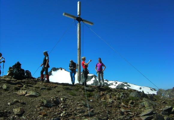 Wanderer auf dem Weg in die Silvretta.
