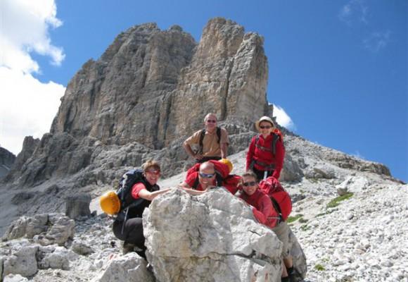 Idyllische Berge in den Dolomiten.
