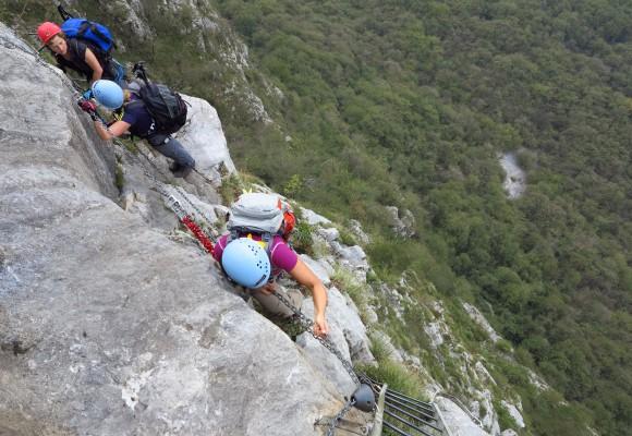 Klettersteige Comer See
