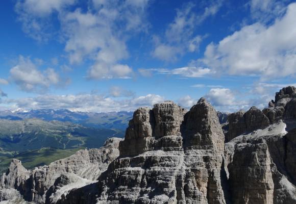 Bergsteiger am Klettersteig Brenta.