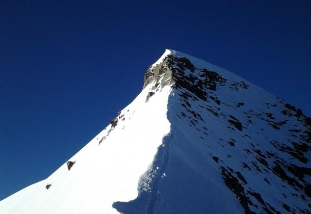 Die Bergsteiger auf ihrer Hochtour durch das Wallis.
