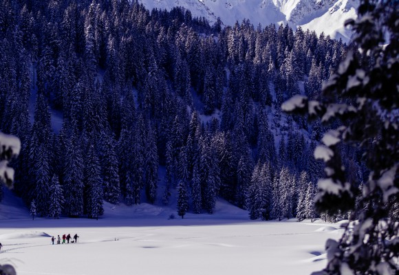 Kleiner Grenzverkehr mit Schneeschuhen