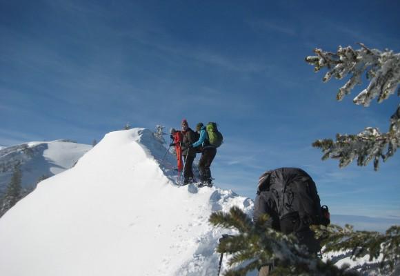 Schneeschuh Ausrüstung für die Panoramarunde Allgäu.