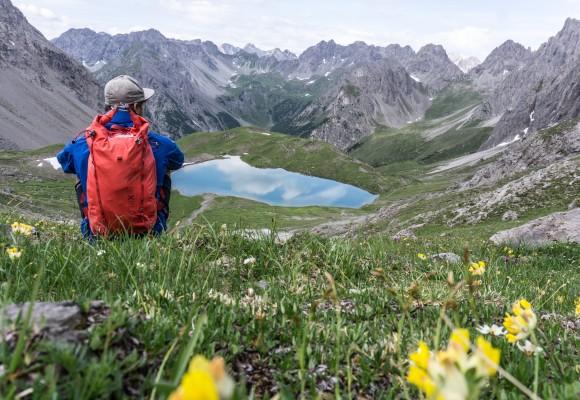 E5 Alpenüberquerung mit Gasthaus im Tal