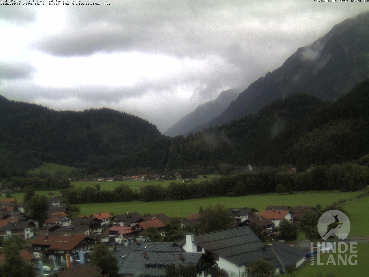 Webcam Bad Hindelang - Blick vom Kirchturm im Allgäu