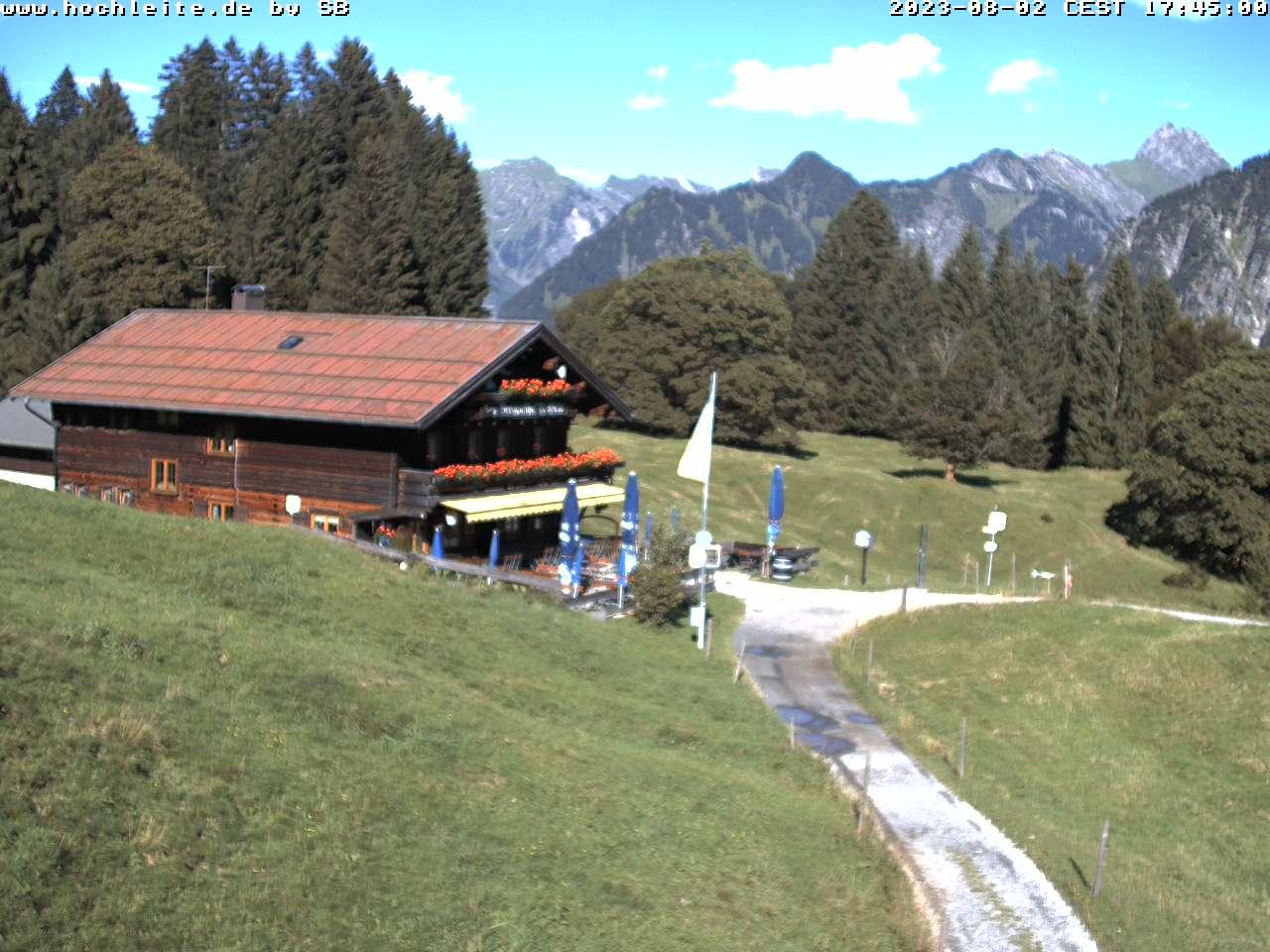 Webcam Hochleite - Berghütte im Allgäu