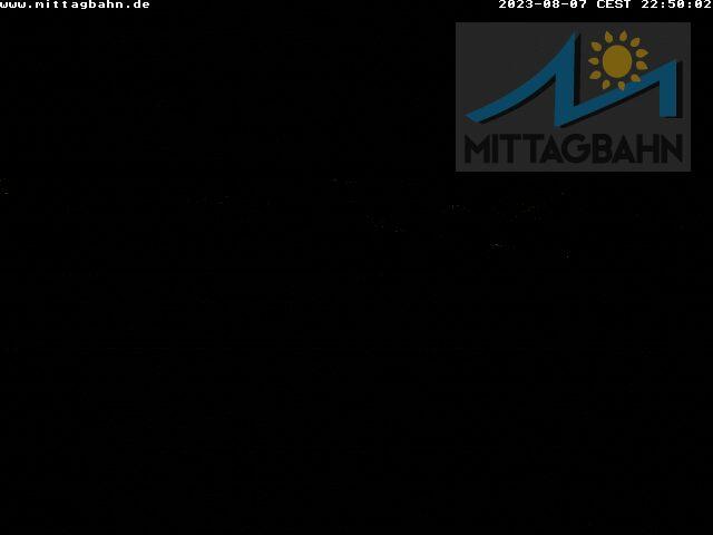 Webcam Mittagbahn - Bergstation im Allgäu