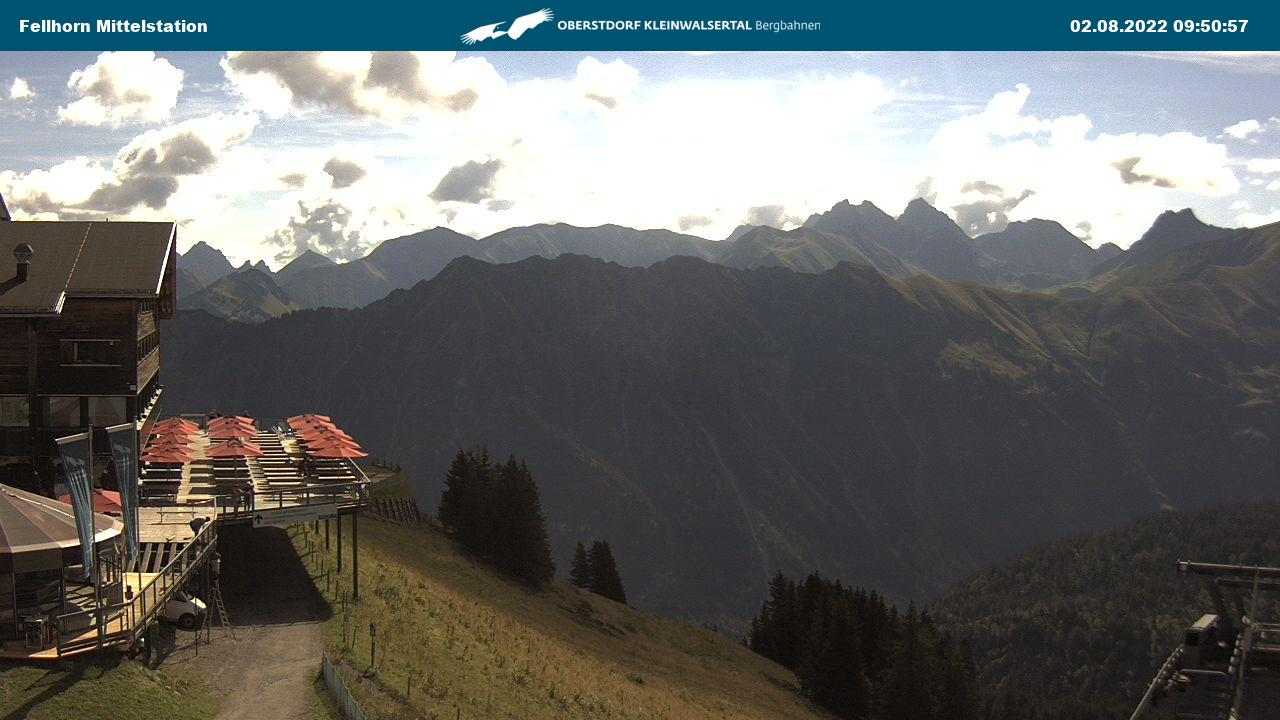 Webcam Fellhornbahn Mittelstation